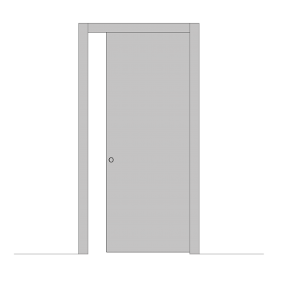 sistema scorrevole interno muro